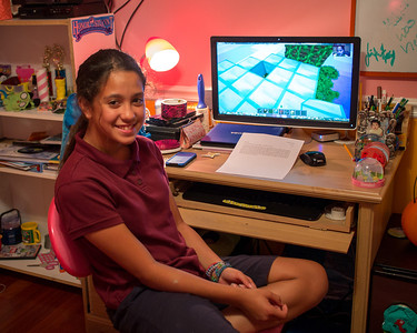 March 20, 2013 - Jennie and her favorite game....Minecraft