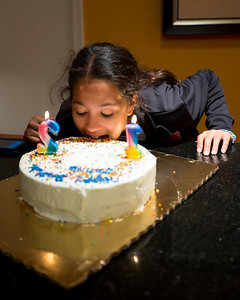February 25, 2013.  Happy Birthday to Jennie.  She really wanted to dive right into her cake.....