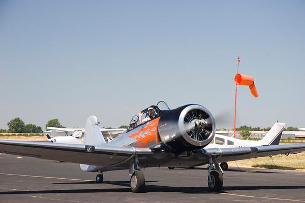 John flies a T6, June 18, 2006