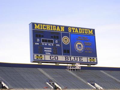 Michigan Stadium  Many fond (and not so fond) memories here.