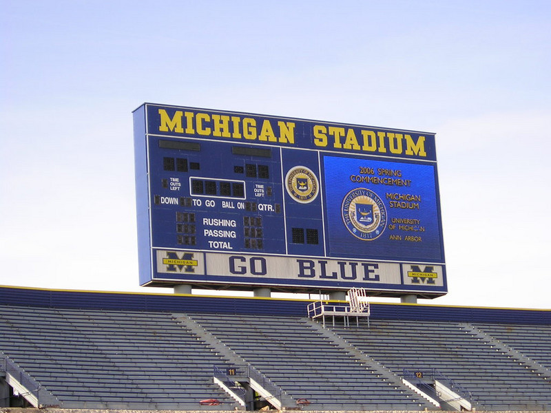 Michigan Stadium<br /> <br /> Many fond (and not so fond) memories here.