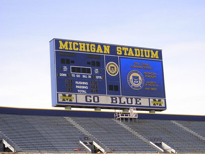 Michigan Stadium  Many fond (and not so fond) memories here.
