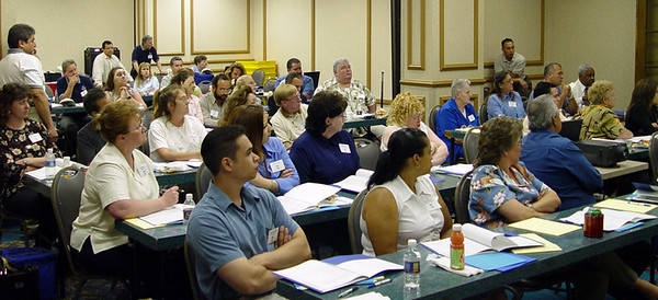 Training, 2004  A rapt audience hanging on Joe's every word.