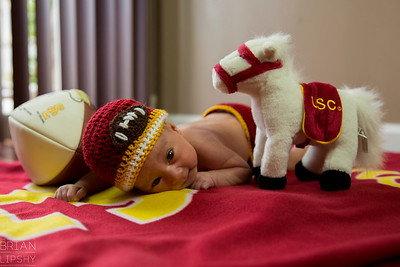 May 2, 2015.  Michael is ready for some Trojan Training.  Fight On!