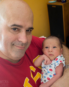 April 18, 2015.  Daddy, Are you wearing another USC shirt?