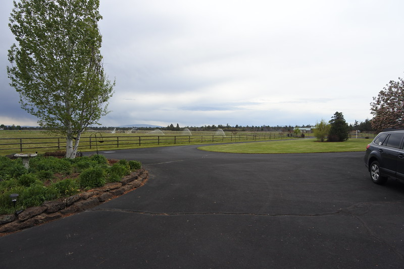 The pasture with the sprinklers running is ours - about 5 acres.