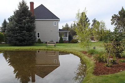 Continuing around the pond to the west facing side of the house