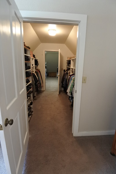 And the enormous master closet. It's over the garage.