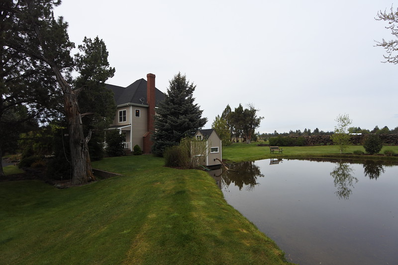 Pumphouse on the pond and you can see where it sits in relation to the house