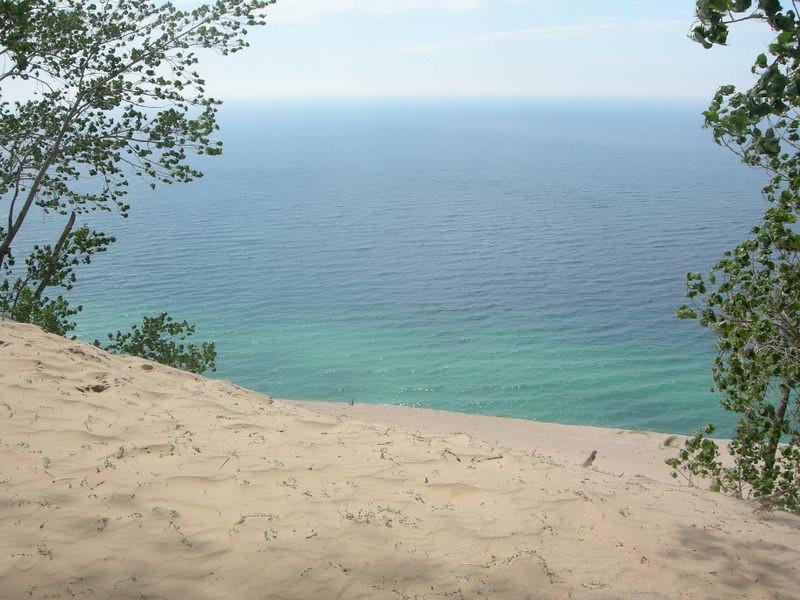 Lake Michigan, 500 feet below