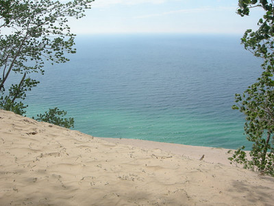 Lake Michigan, 500 feet below