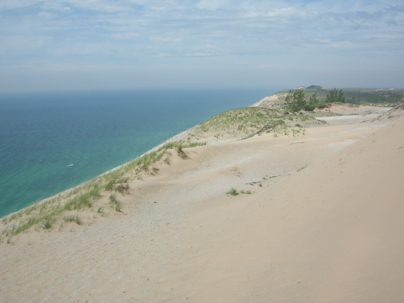 Sleeping bear dunes<br /> <br /> The 'soft focus' look is due to all of the blowing sand.