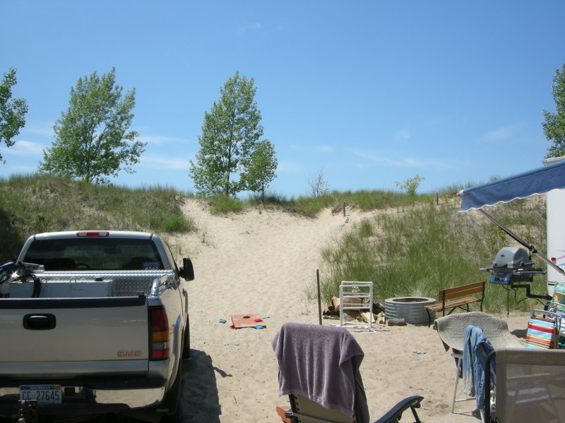 Another favorite site<br /> <br /> Lake Michigan is just on the other side of the dune.
