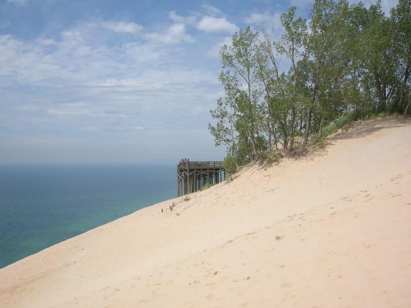 Viewing platform at the dunes