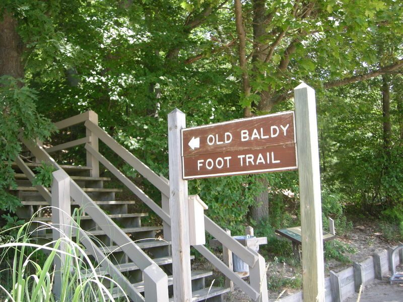 Old Baldy!<br /> <br /> Old Baldy is a big forested dune - you can hike the boardwalk through the trees, and it spits you out at the top of the sandy part. It is then required that you run down the dune as fast as you possibly can.