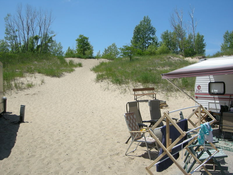 One of my favorite campsites<br /> <br /> We'd get one of the sites along the dune and us kids would play all day in the sand, running up and down the hill. Looks a lot smaller now. :)