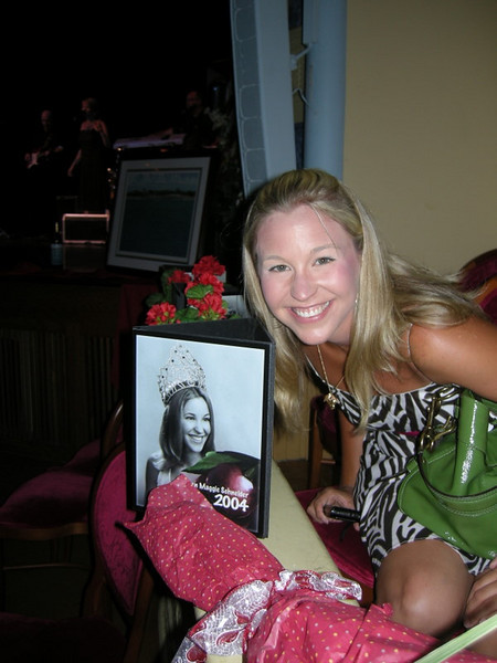 Maggie at the Cherry Queen coronation ball - she was queen in 2004