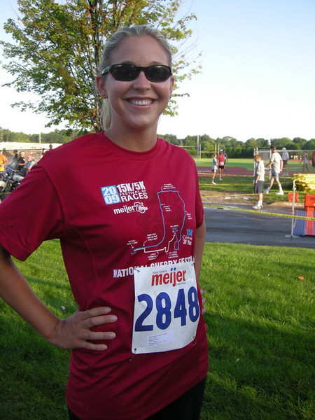 Maggie before the 5k