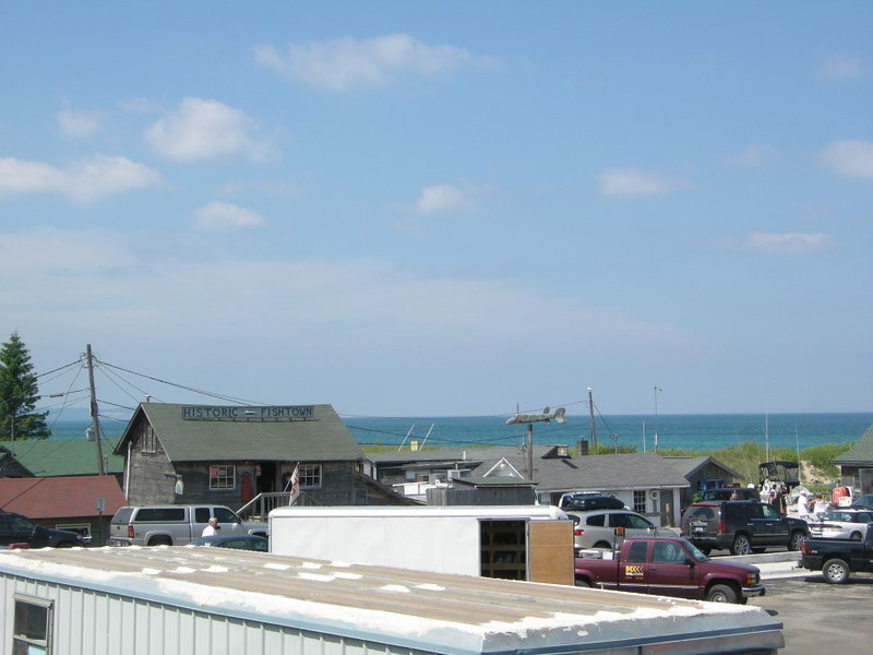 Lake Michigan was a beautiful turquoise blue this day
