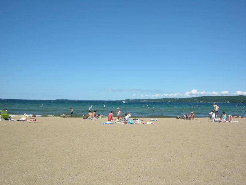 Beach in Traverse City<br /> <br /> On West Grand Traverse Bay (Lake Michigan)