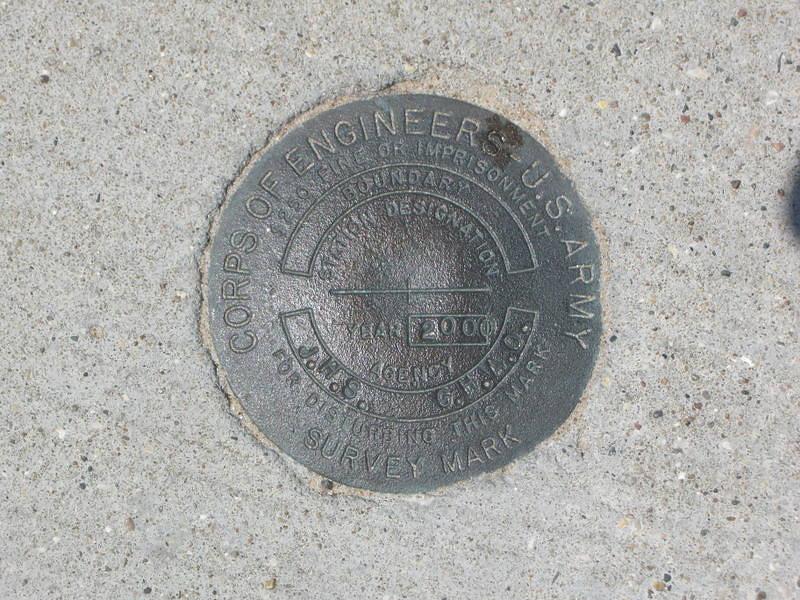 Benchmark on pier