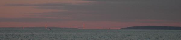 Sunset over the Mackinac Bridge