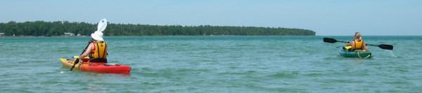 Kayaking in the Straits of Mackinac