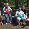 """Jesse, JoAnn, Marine, Ilene, John. """"Oakes"""" family reunion, Hecksher State Park, NY, August 29, 2015."""