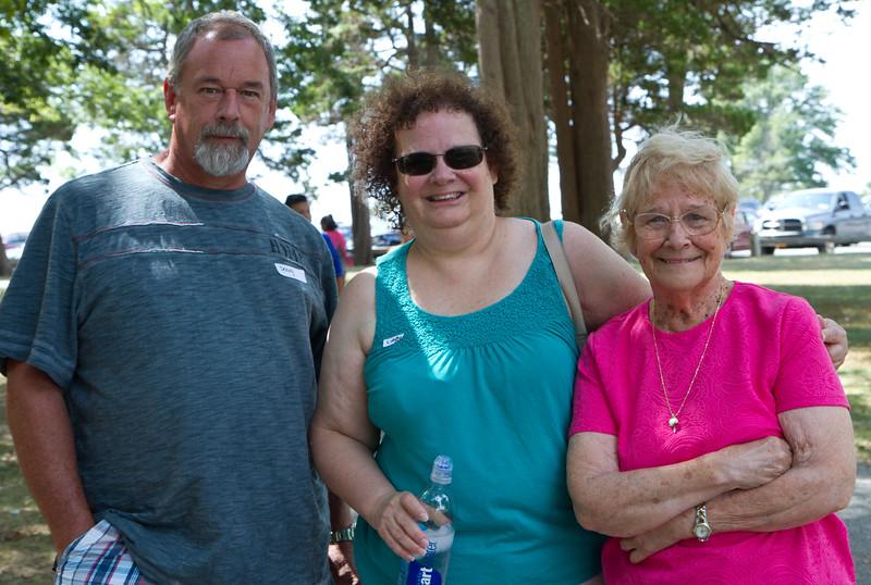 "Doug, Linda, Evelyn. ""Oakes"" family reunion, Hecksher State Park, NY, August 29, 2015."