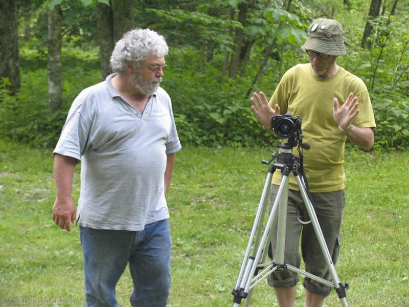 Brooks and Knarf plan the shot