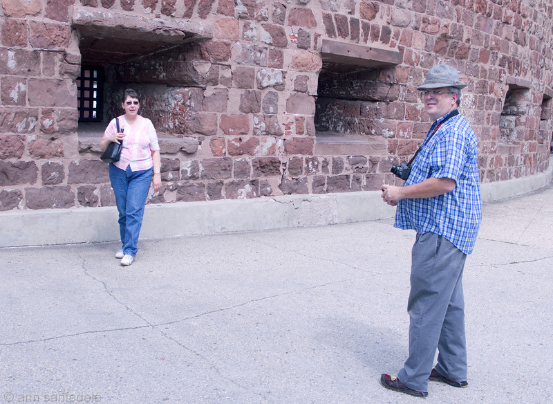 Collin and wife Virgina at the Battery on their whirlwind tour of Manhattan