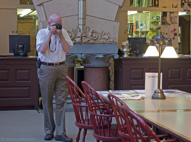 Rick Womer at  the U of Penn's library  when I went to Philly last year