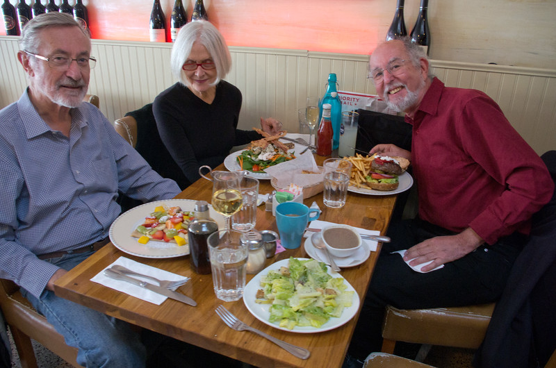 NY PDML  - John and Jan Coyle  and Marco Alpert chowing down and one of my favorite local restaurants for brunch/lunch