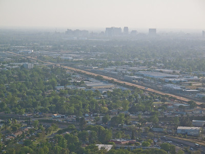 Capitol City Freeway and downtown