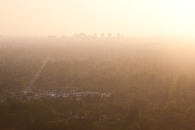 Downtown Sacramento at sunset