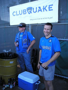 David and Alexi next to the magic cooler - who would have guessed?