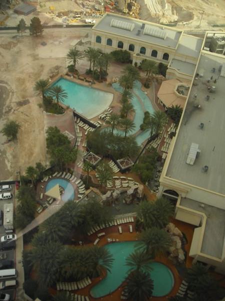 Hotel pools below our room.