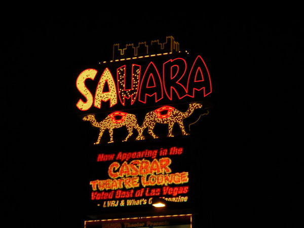 We went to the Amazing Johnathan show at the Sahara<br /> <br /> This is one of the older casinos and they had some interesting photos and history of the strip inside