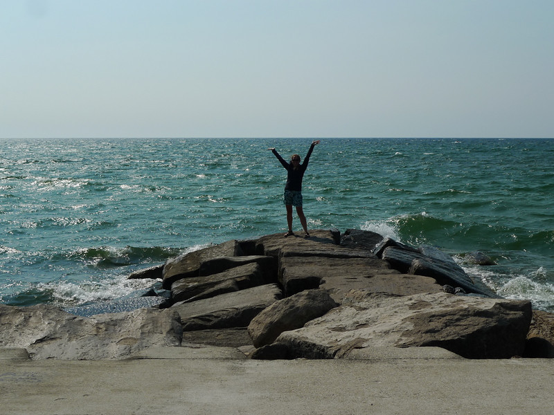 Me on the end of the breakwater