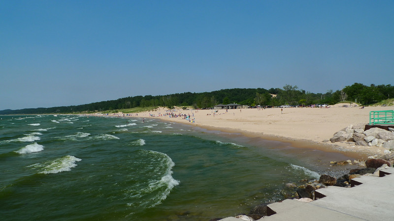 Lake Michigan and the Pentwater beach