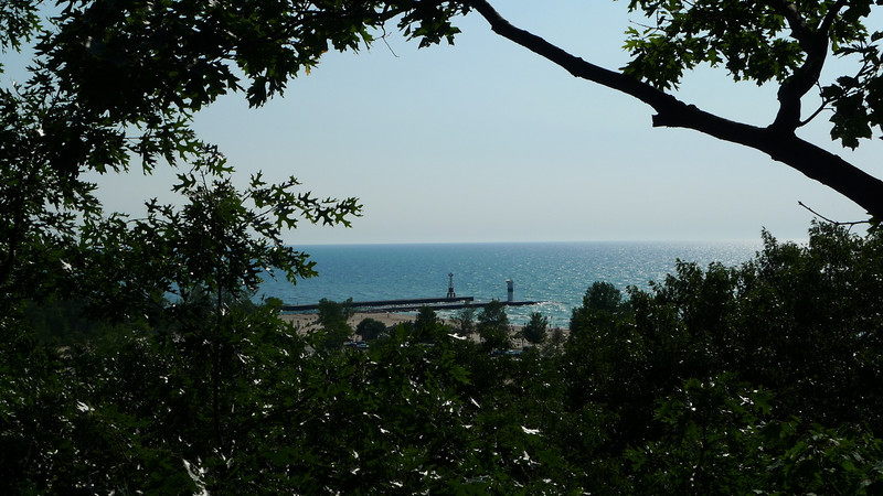 View of the breakwater from the climb.