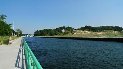 Walking out on the breakwater