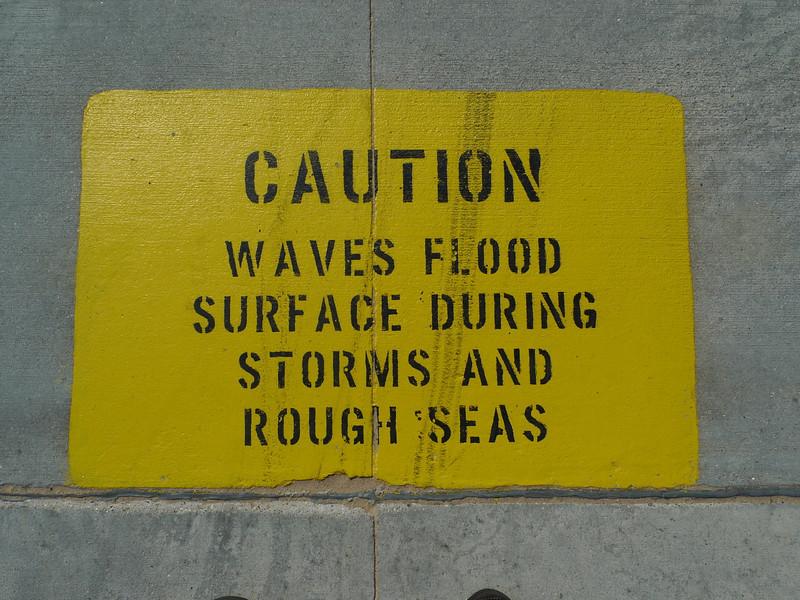 Breakwater signage