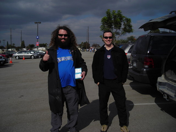 Arriving at the Home Depot Center before the game