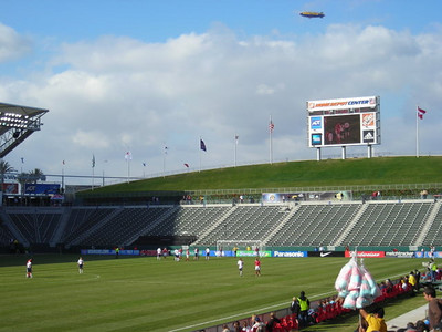 Goodyear Blimp over the Home Depot Center