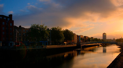 Sunrise in Templebar, Dublin