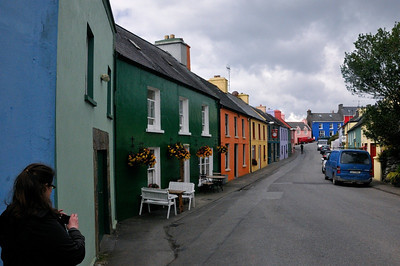 Ring of Beara. This is the little town of Eyeries, where we had lunch.