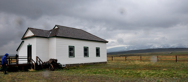 One-room schoolhouse on the prairie, used by The Nature Conservancy  Copyright (C) 2008 Doug Wieringa