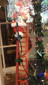 Store window Santa