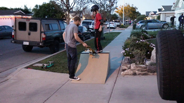Connor drops into his new ramp